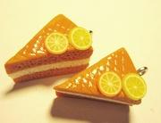Серьги ручной работы (лимонные пироги)