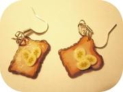 Серьги ручной работы (утренние тосты с бананом)
