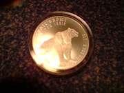 серебро 999, 9пробы 31, 1г Казахстан серебряный барс
