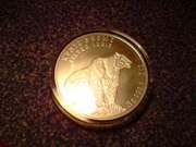 серебро 999, 9пробы 155, 5г Казахстан серебряный барс