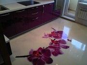 Полимерный наливной пол для кухни.