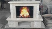 Мраморный каминный портал Фиор Беж (Турция)