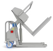 Подъёмник опрокидыватель загрузчик для пищевого производства