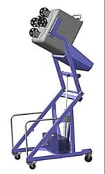 Подъёмник опрокидыватель тележек