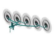 Грабли ворошилки 3.3м усиленные 5 колес (Россия)